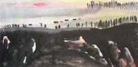 山水 立轴 水墨纸本 - 131995 - 书画杂件 - 2007迎春文物艺术品拍卖会 -收藏网
