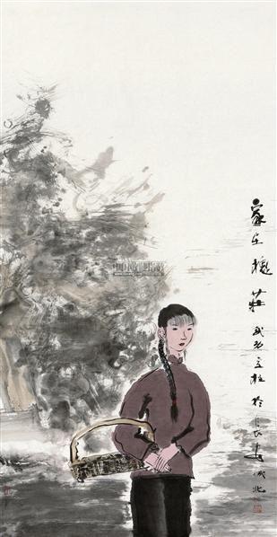 家在槐庄 镜心 设色纸本 - 5544 - 中国书画(二) - 2012迎春艺术品拍卖会 -收藏网