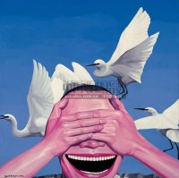 岳敏君 2002年作 天空·动物·人 - 8701 - 亚洲当代艺术 - 2007春季艺术品拍卖会 -收藏网