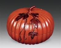 瓜棱漆盒 -  - 瓷杂 - 五周年秋季拍卖会 -中国收藏网
