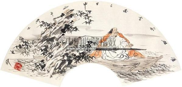 山水 扇面 镜心 设色纸本 - 4486 - 翰墨斋书画专场 - 2011首届书画精品拍卖会 -收藏网