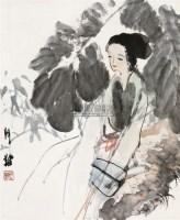 静思 立轴 设色纸本 - 116212 - 中国书画 - 2010秋季艺术品拍卖会 -收藏网