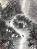 山 立轴 设色纸本 - 128013 - 中国书画(四) - 2011春季艺术品拍卖会 -收藏网