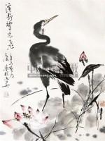 花鸟 立轴 纸本 - 38099 - 中国当代名家书画专场 - 2011年春季艺术品拍卖会 -收藏网