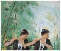 春笛 布面 油画 - 苏天赐 - 中国油画 - 2007春季大型拍卖会 -中国收藏网