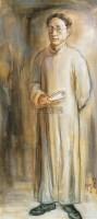 徐志摩 布面油画 - 84281 - 中国油画 - 2005秋季大型艺术品拍卖会 -收藏网