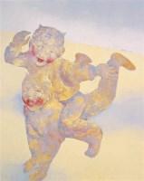 郭晋 2002年作 Children playing 布面 油画 - 郭晋 - 四川画派(油画) - 2006秋季拍卖会 -收藏网