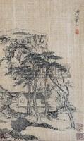 山水 立轴 水墨绢本 - 渐江 - 中国书画 - 2007秋季艺术品拍卖会 -收藏网