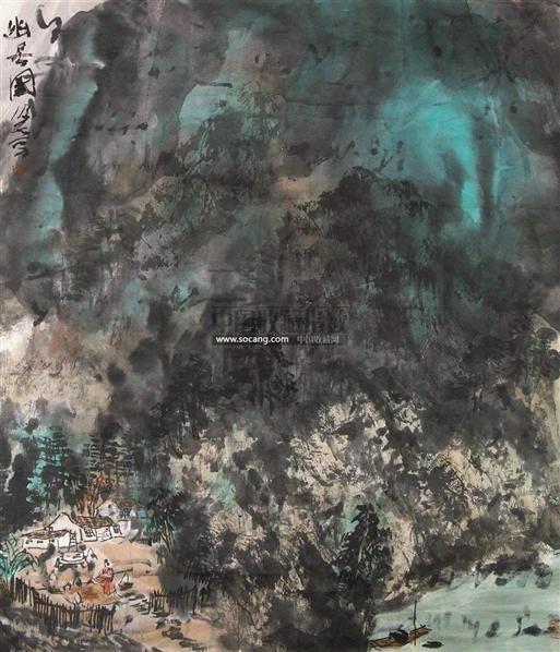 山水 纸本设色 - 33135 - 中国书画 - 2011春季艺术品拍卖会 -收藏网