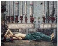 管道 布面 油彩 - 邸立丰 - 中国油画及雕塑 - 2007春季拍卖会 -收藏网