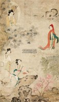 仕女 挂轴 设色纸本 - 116944 - 中国书画 - 中国书画及艺术品拍卖会 -收藏网