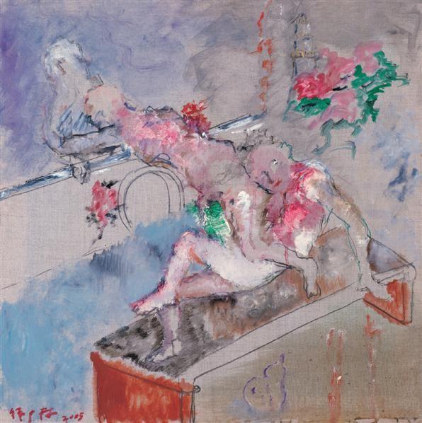 西湖清夏 布面 油彩 - 140578 - 中国油画(一)当代专场 - 2007春季大型艺术品拍卖会 -收藏网