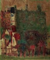 风景一隅 油彩 画布 -  - 现代与当代艺术 - 2011台北秋季拍卖会 -收藏网