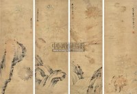 花卉 镜片 纸本 -  - 古今书画专场 - 夏季艺术品拍卖会(第六期) -中国收藏网