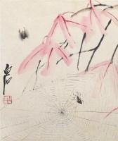 花卉图 镜片 设色纸本 - 116087 - 中国书画艺术品专场 - 2011年秋季艺术品拍卖会 -收藏网