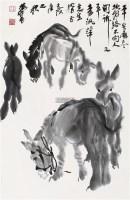 五驴图 立轴 水墨纸本 - 7693 - 中国书画、油画 - 2011冬季古今艺术品拍卖会 -收藏网