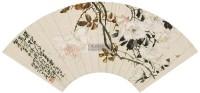 月季 镜片 扇面 设色纸本 - 6977 - 中国名家书画 - 2011秋季中国名家书画拍卖会 -中国收藏网