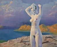 沐浴 布面油彩 - 12746 - 中国油画(一) - 2006年中国艺术品春季拍卖会 -收藏网