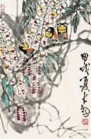紫藤 立轴 纸本 - 116612 - 画院友情提供专场 - 庆二周年秋季拍卖会 -收藏网