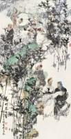 竹林七贤 镜心 设色纸本 - 王明明 - 中国书画(二) - 2007秋季大型拍卖会 -收藏网