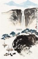 秋江夜泊图  画片 设色纸本 - 140534 - 中国书画(一) - 2011秋季拍卖会 -中国收藏网