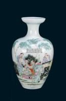 粉彩人物小樽 -  - 中国古董家具及书画 - 2011年春季拍卖 -收藏网