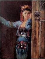李金明 门里门外 - 41687 - 广东当代油画名家 - 2007春季拍卖会 -中国收藏网