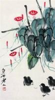 齐白石(1864-1957)  小鸡牵牛花 - 齐白石 - 中国近现代书画专场 - 2007年秋季拍卖会 -收藏网