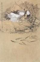 戏鱼图 立轴 绢本 - 119435 - 中国古代书画、书法专场 - 2011首届春季拍卖会 -收藏网