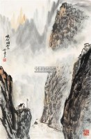 山水 立轴 纸本 - 张登堂 - 保真作品专题 - 2011春季书画拍卖会 -收藏网