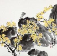 花鸟 镜片 设色纸本 - 146216 - 中国书画 - 2012年迎春艺术品拍卖会 -收藏网