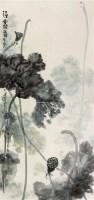 荷花 镜片 纸本 - 118603 - 保真作品专题 - 2011春季书画拍卖会 -收藏网