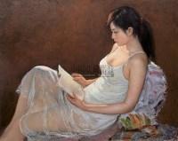 读 布面  油画 - 154635 - 油画 版画 - 2006秋季艺术品拍卖会 -收藏网