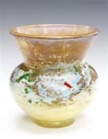 杜姆兄弟 虫与蜘蛛网图案花瓶 -  - 装饰美术 - 2011秋季伊斯特香港拍卖会 -收藏网