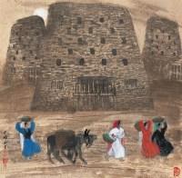 新疆风情 镜心 设色纸本 - 马西光 - 中国当代书画 - 2006冬季拍卖会 -收藏网
