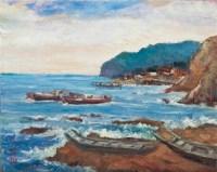 蓝色海岸 油彩 画布 -  - 现代与当代艺术 - 2011台北秋季拍卖会 -中国收藏网