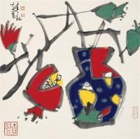 张桂铭 瓶花图 立轴 设色纸本 - 114810 - 中国书画 - 2006年秋季拍卖会 -收藏网
