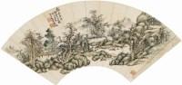 吳待秋(1878-1949)溪亭修竹圖 扇片 -  - 中国书画 - 四季拍卖会(二) -中国收藏网