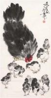 母子图 立轴 纸本 - 7693 - 炎黄画有心—黄冑专场 - 第八期民间收藏书画拍卖会 -收藏网