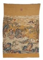缂丝群仙祝寿 -  - 古董珍玩专场 - 翰海四季(第72期)拍卖会 -收藏网