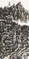 贺兰图 镜片 设色纸本 - 龙瑞 - 私人重要收藏专场 - 2011年春季中国书画拍卖会 -收藏网