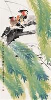 柳树鸳鸯 立轴 设色纸本 - 叶绿野 - 中国当代书画 - 2006冬季拍卖会 -收藏网