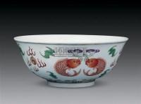 粉彩双鱼纹碗 -  - 瓷玉古董珍玩专场 - 2010年冬季艺术精品拍卖会 -收藏网