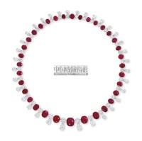 A RUBY AND DIAMOND NECKLACE -  - 瑰丽珠宝及翡翠首饰 - 2011年春季拍卖会 -收藏网