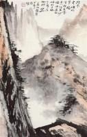 奇峰苍松 立轴 设色纸本 - 3719 - 江平楼藏画专场 - 2011秋季艺术品拍卖会 -收藏网