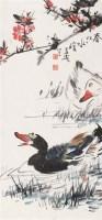 春江水暖 立轴 设色纸本 - 116837 - 书画杂件 - 2007迎春文物艺术品拍卖会 -收藏网