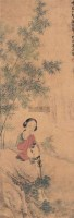 仕女 立轴 纸本设色 - 莲溪 - 中国书画 - 2006春季拍卖会 -收藏网