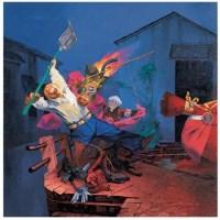抢救财产 油彩 布面 - 岂梦光 - 中国油画(一)-亚洲当代 - 2007春季拍卖会 -收藏网