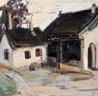 王琨 2005年作 院落 布上油画 - 王琨 - 中国西画 - 2006秋季拍卖会 -收藏网