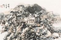 水乡 镜框 - 4422 - 中国书画(一) - 2011秋季书画拍卖会 -收藏网